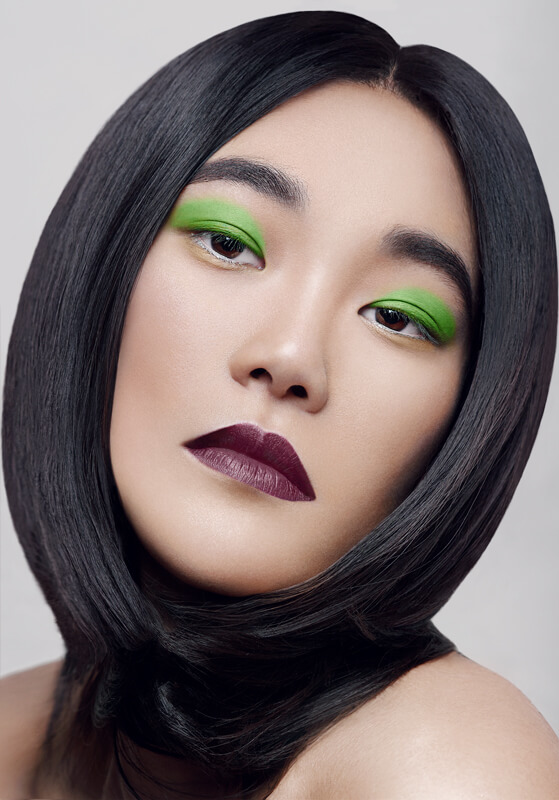 beauty photography with beautiful asian model